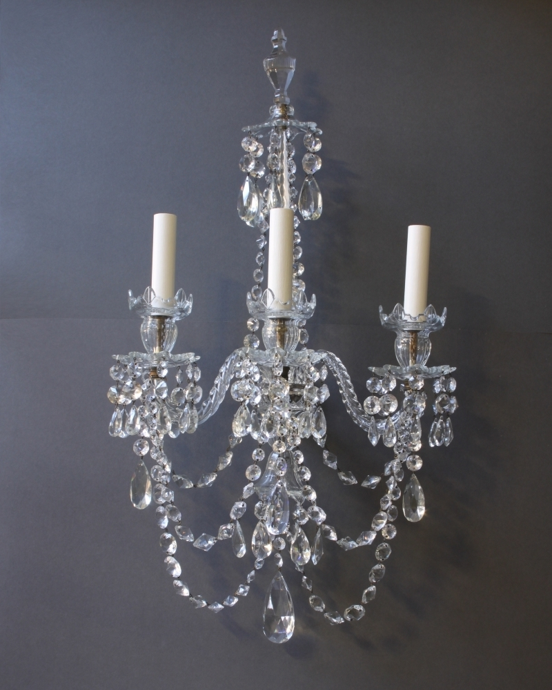 Most Current Bathroom Chandelier Wall Lights Inside Wall Sconce With Matching Chandelier • Wall Sconces (View 3 of 15)