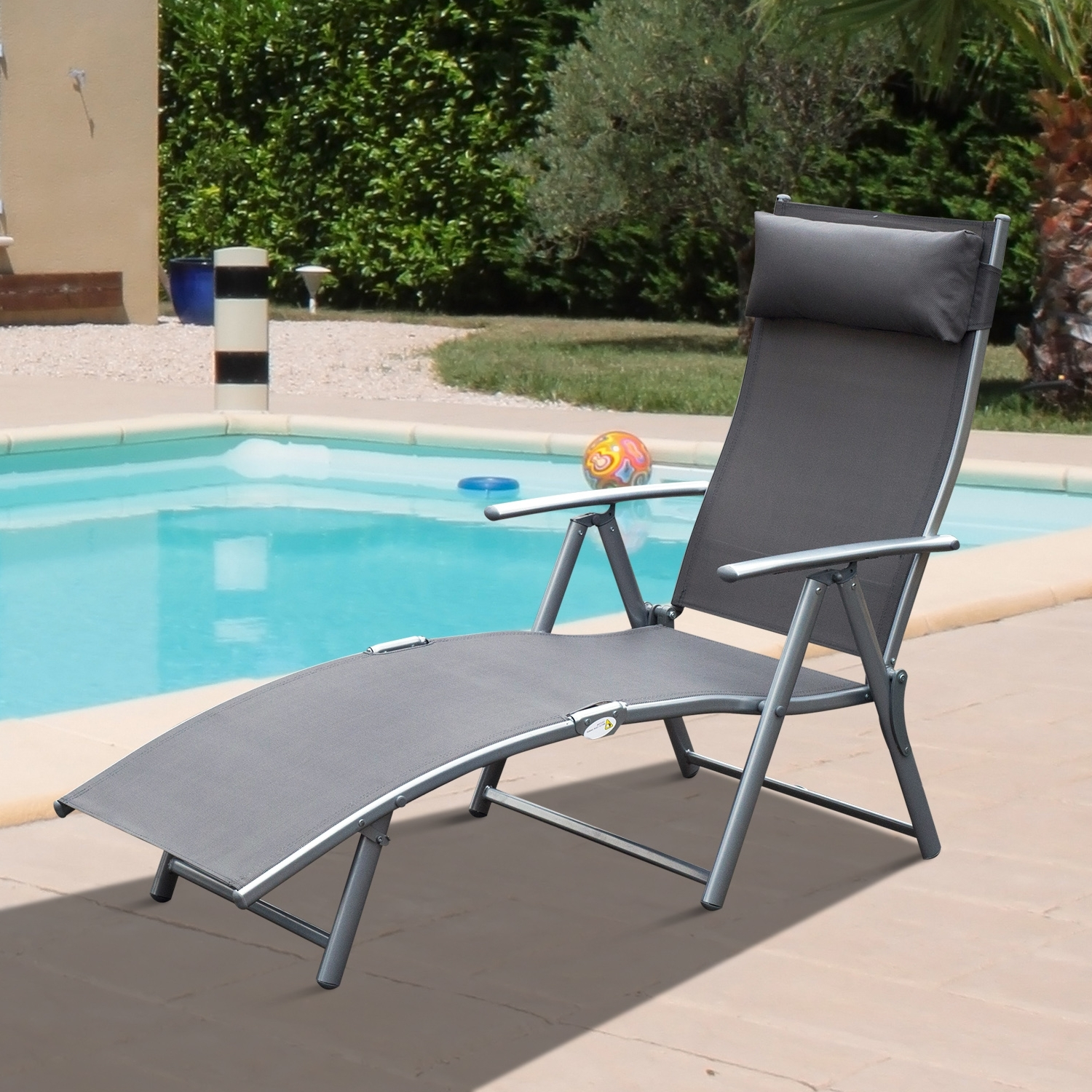 Most Current Chaise Lounge Chair Folding Pool Beach Yard Adjustable Patio Throughout Adjustable Pool Chaise Lounge Chair Recliners (View 11 of 15)