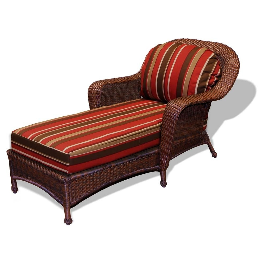 Most Current Chaise Lounge Cushions Pertaining To Replacement Cushion – Tortuga Outdoor Lexington Wicker Chaise (View 6 of 15)