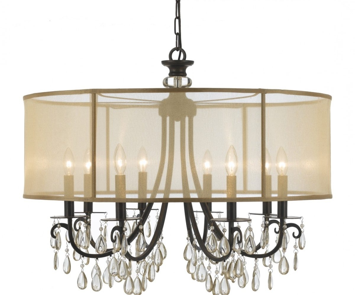 Most Current Chandeliers Design : Wonderful Amazon Com Lightinthebox Contemporary Within Chandelier With Shades And Crystals (View 11 of 15)
