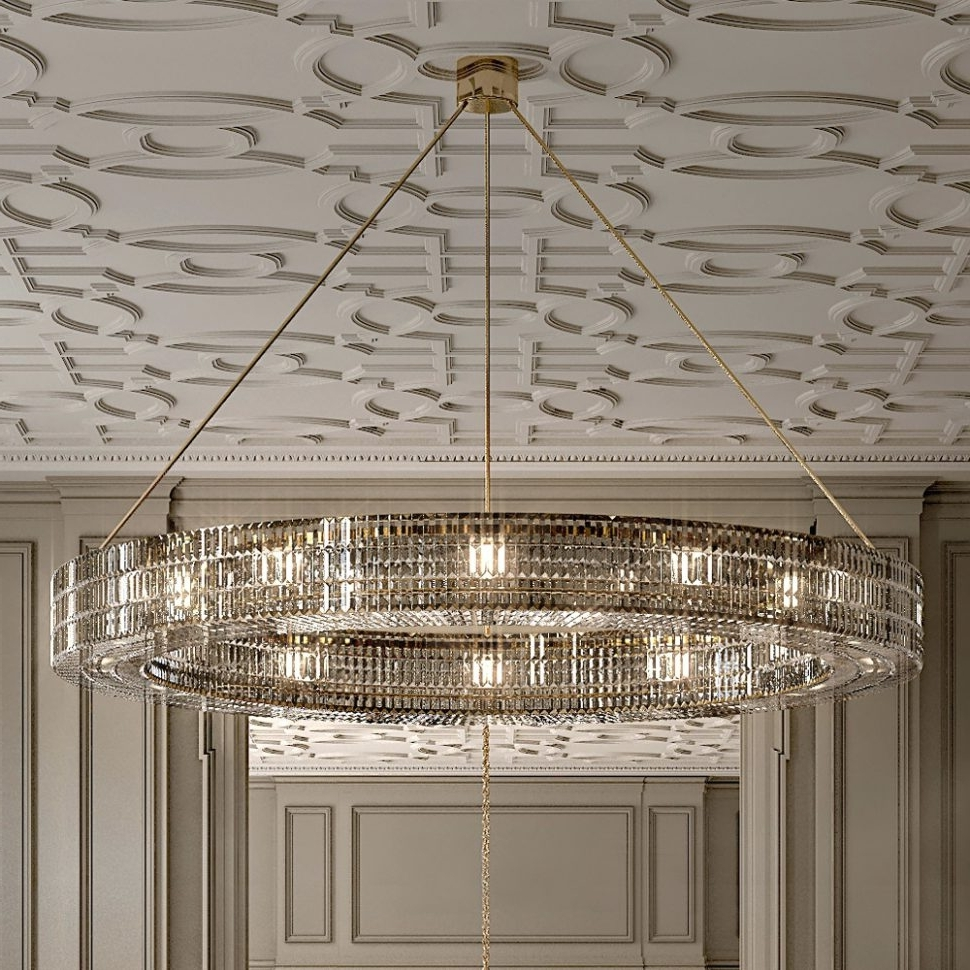 Most Current Chandeliers Design : Wonderful Clarissa Crystal Drop Round Pertaining To Contemporary Large Chandeliers (View 15 of 15)