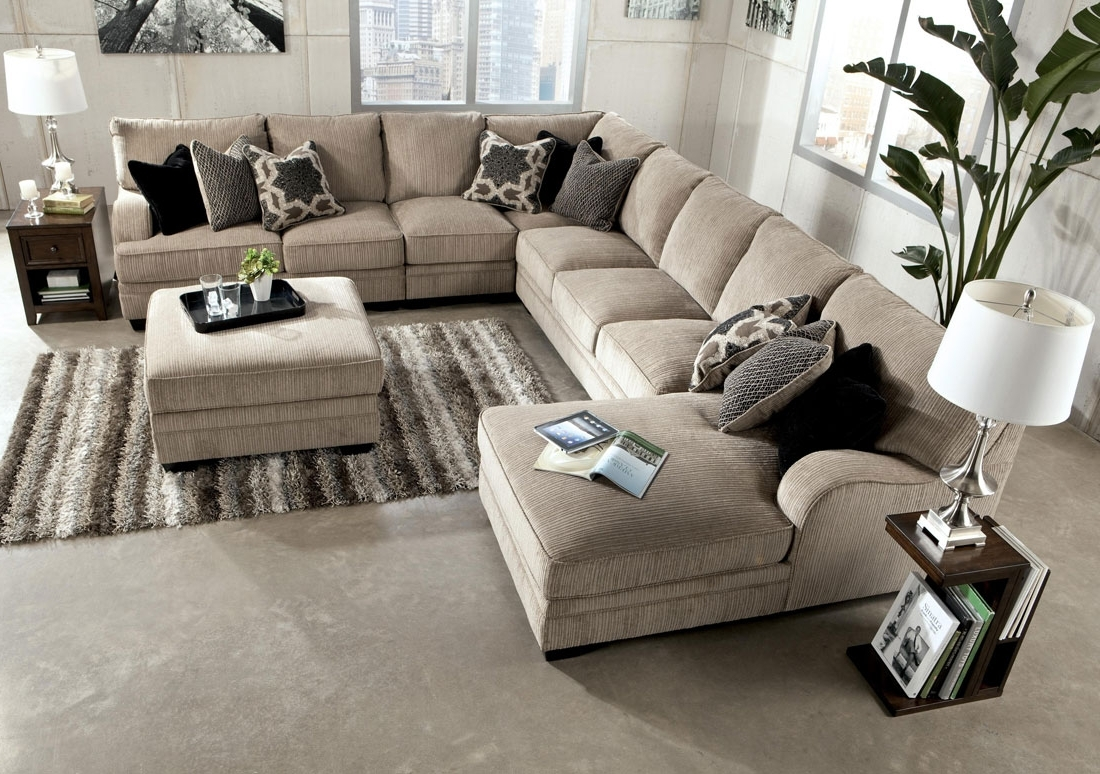 Most Current Chenille Sectional Sofa With Chaise – Hotelsbacau In Oversized Sectional Sofas With Chaise (View 4 of 15)