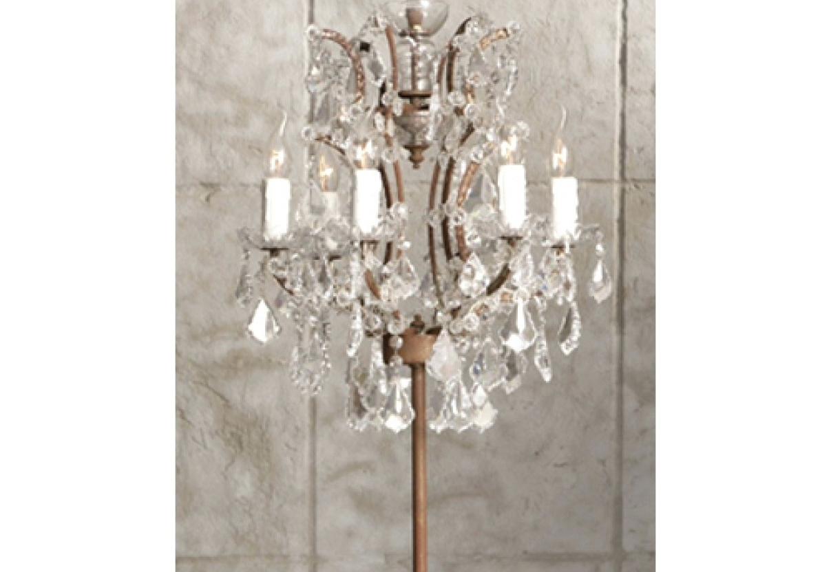 Most Current Crystal Chandelier Standing Lamps Intended For Chandelier : Nice Inch Crystal Chandelier Floor Lamp With White Drum (View 1 of 15)