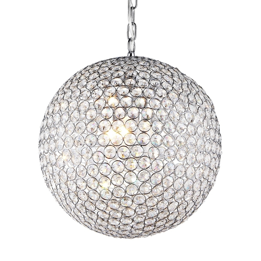 Most Current Crystal Globe Chandelier Inside Shop Warehouse Of Tiffany Jasmine 16 In 2 Light Chrome Crystal (View 10 of 15)
