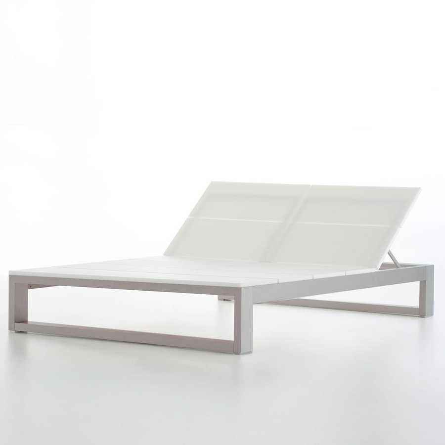 Most Current Deck Chaise Lounge Chairs With Regard To Double Outdoor Chaise Lounge Es Cavallet Gandia Blasco (View 15 of 15)