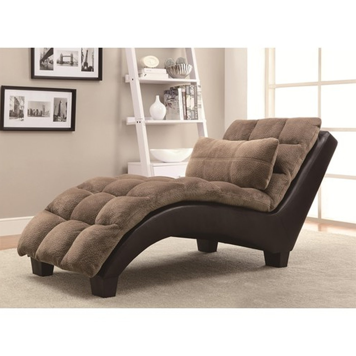 Most Current Fabric Chaise Lounge Chairs Pertaining To Brown Fabric Chaise Lounge – Steal A Sofa Furniture Outlet Los (View 8 of 15)