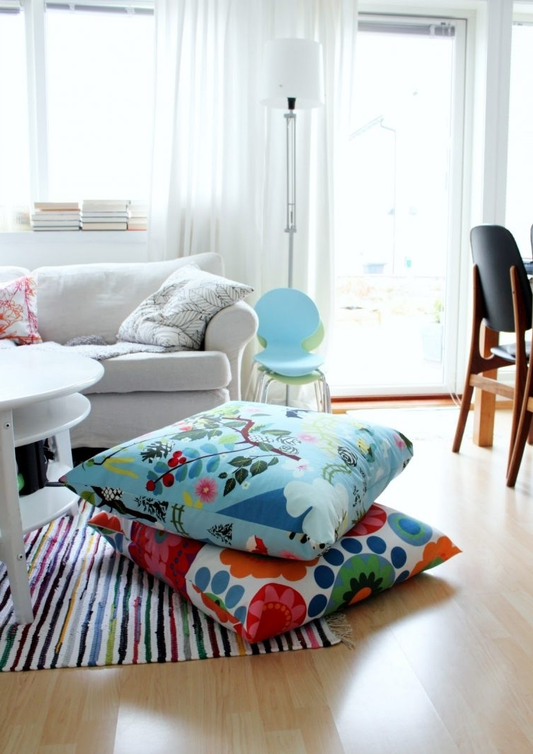 Most Current Floor Cushion Sofas Pertaining To 57 Cool Ideas To Decorate Your Place With Floor Pillows – Shelterness (View 7 of 15)