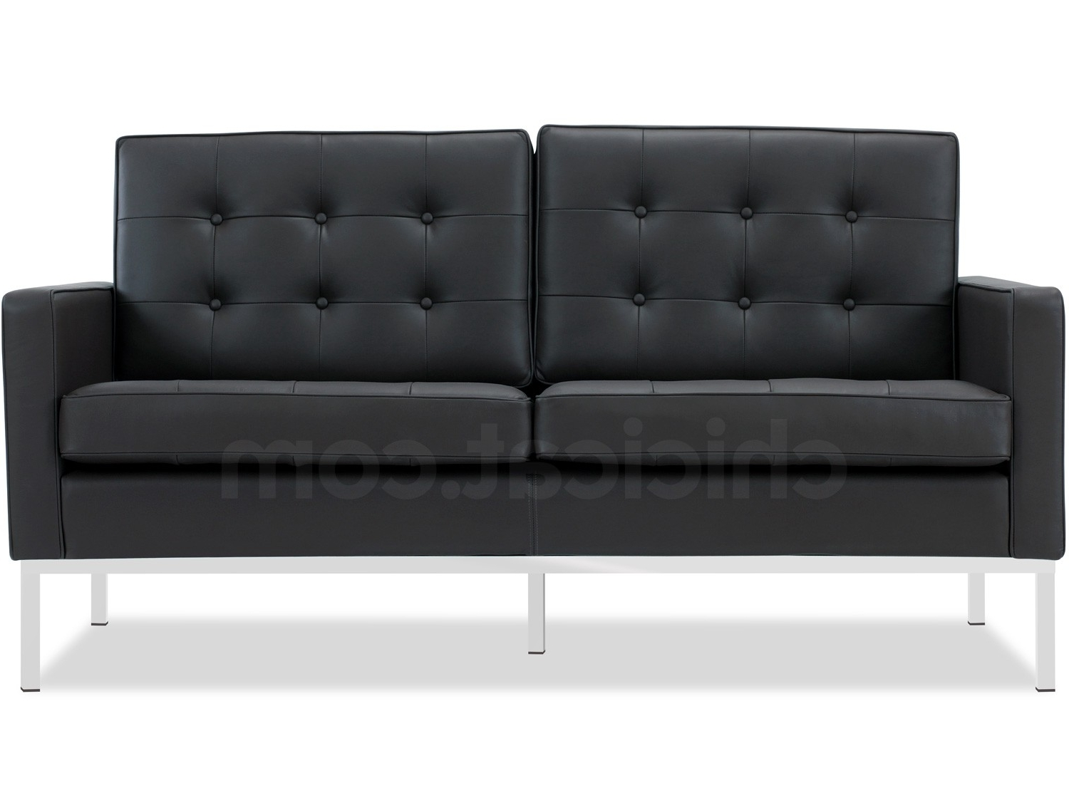 Most Current Florence Knoll Leather Sofas Within Florence Knoll Sofa 2 Seater Leather (Platinum Replica) (View 14 of 15)