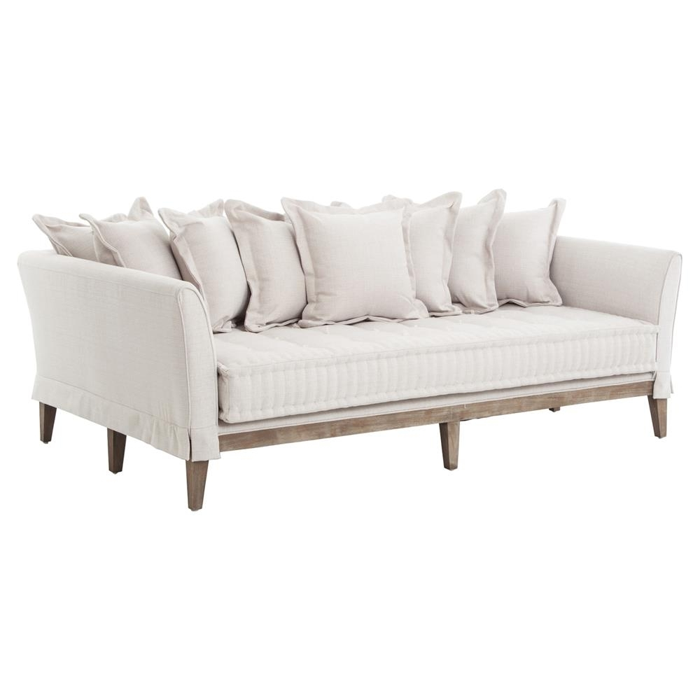 Most Current French Style Sofas Throughout Dedon French Country Coastal Style Light Sand Sofa (View 6 of 15)