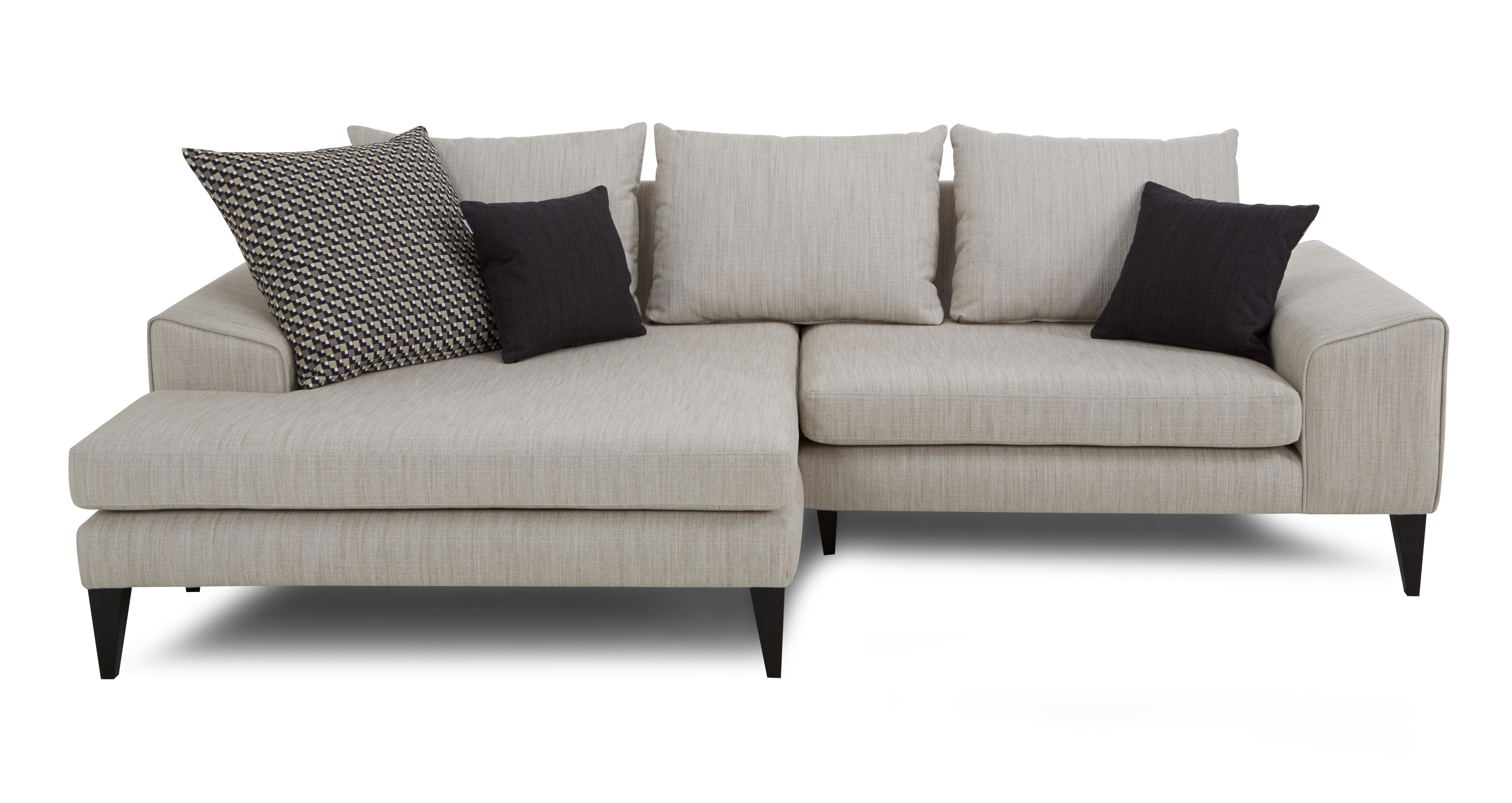 Most Current Grey Chaise Sofas Within Sofa : Grey Chaise Sofa Darcy Graygreyunge Light Sectional With (View 10 of 15)