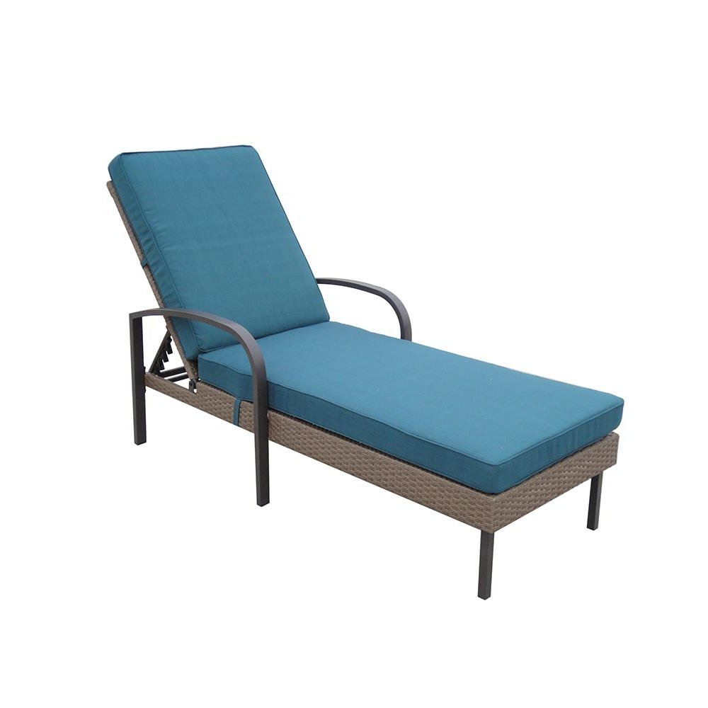 Most Current Hampton Bay Corranade Wicker Chaise Lounge With Charleston Throughout Teal Chaise Lounges (View 6 of 15)