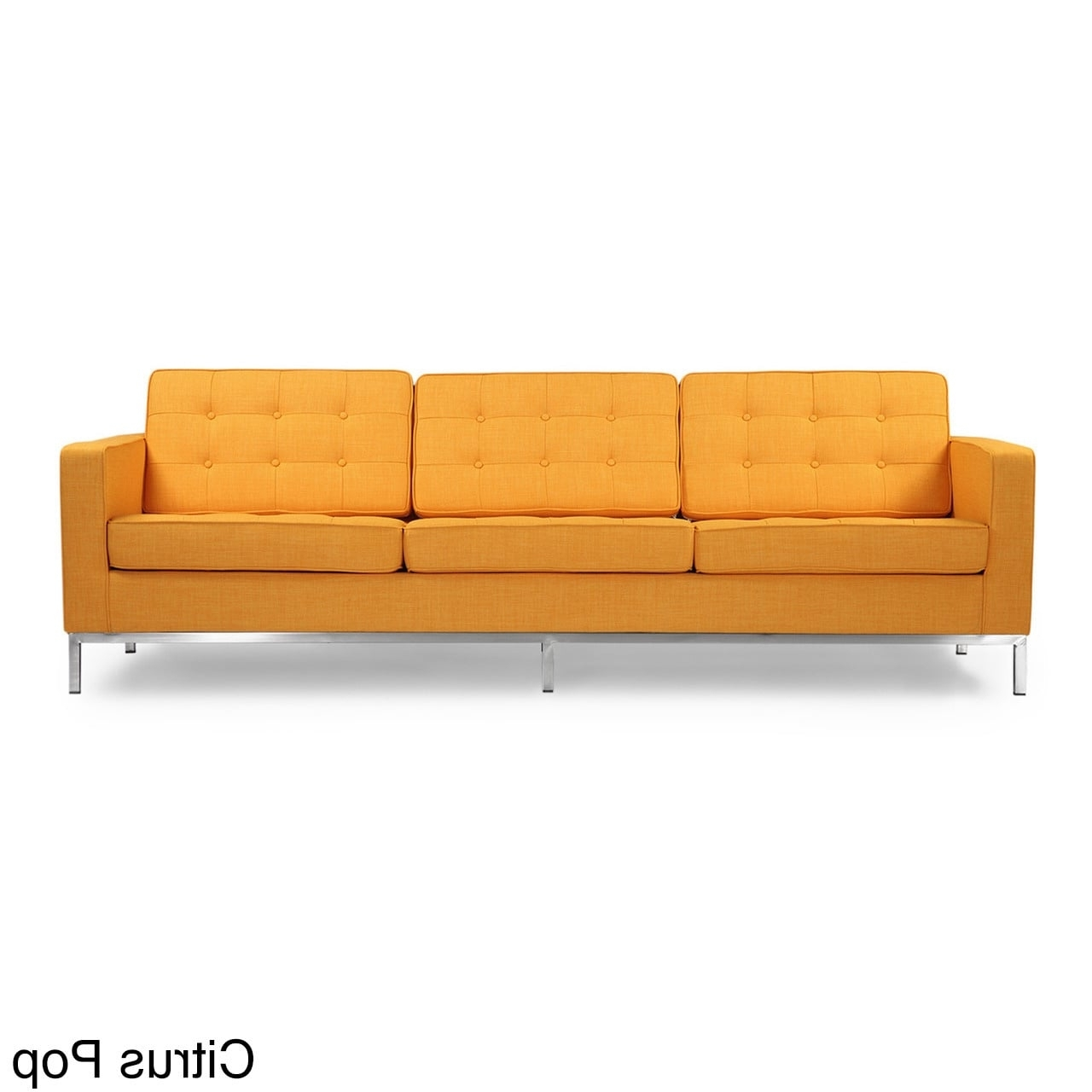 Most Current Kardiel Florence Knoll Style Sofa 3 Seat, Premium Fabric With Florence Knoll Fabric Sofas (View 4 of 15)