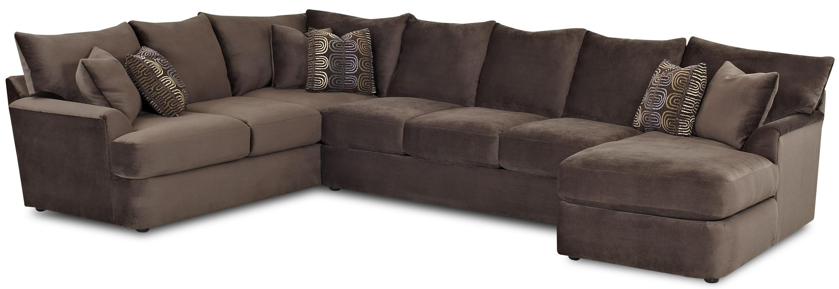 Most Current L-Shaped Sectional Sofa With Left Chaiseklaussner