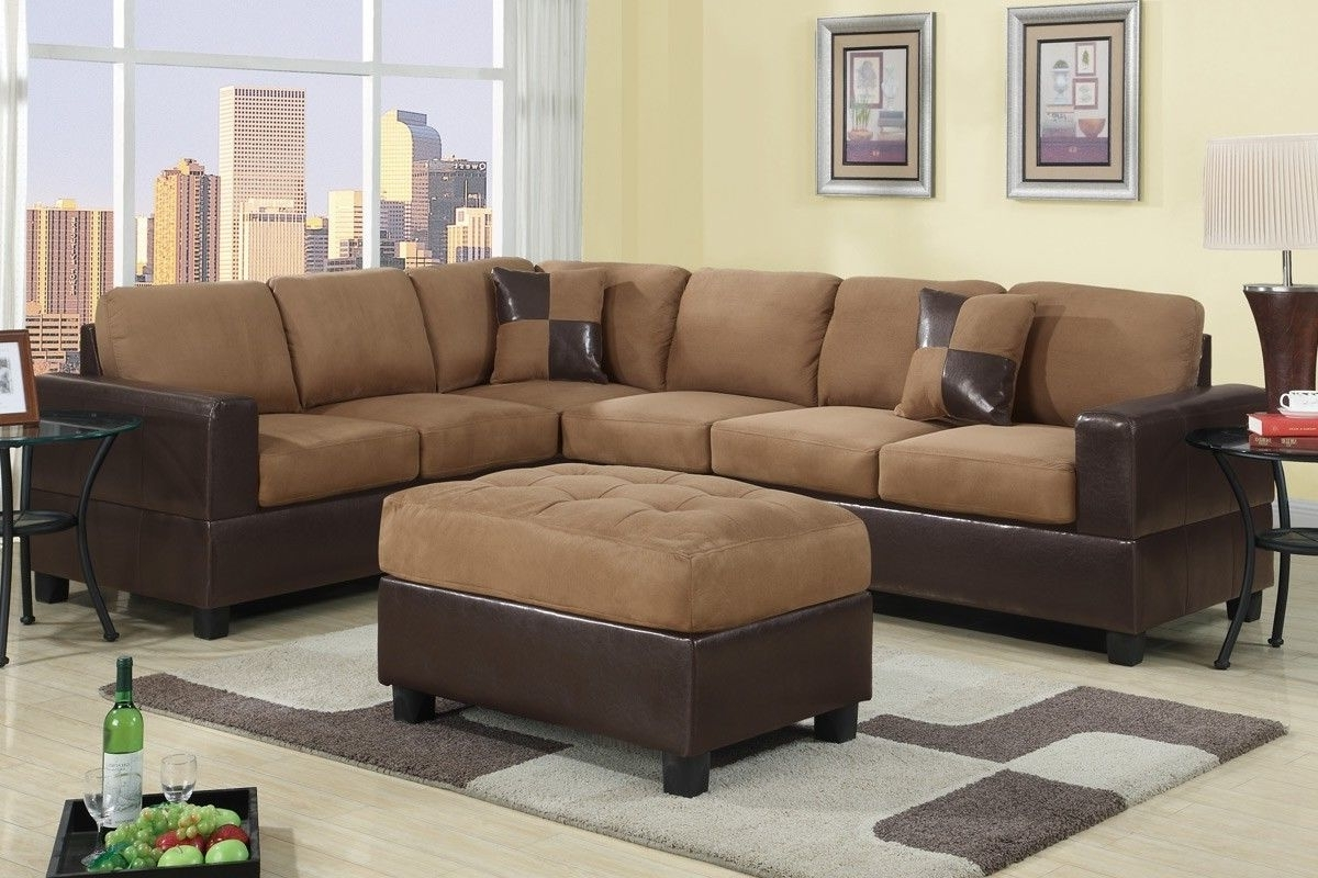 Most Current Leather And Suede Sectional Sofas Inside Sofa : Ashley Sectional Sofa Red Leather Sofa' Small Sofa Bed (View 9 of 15)