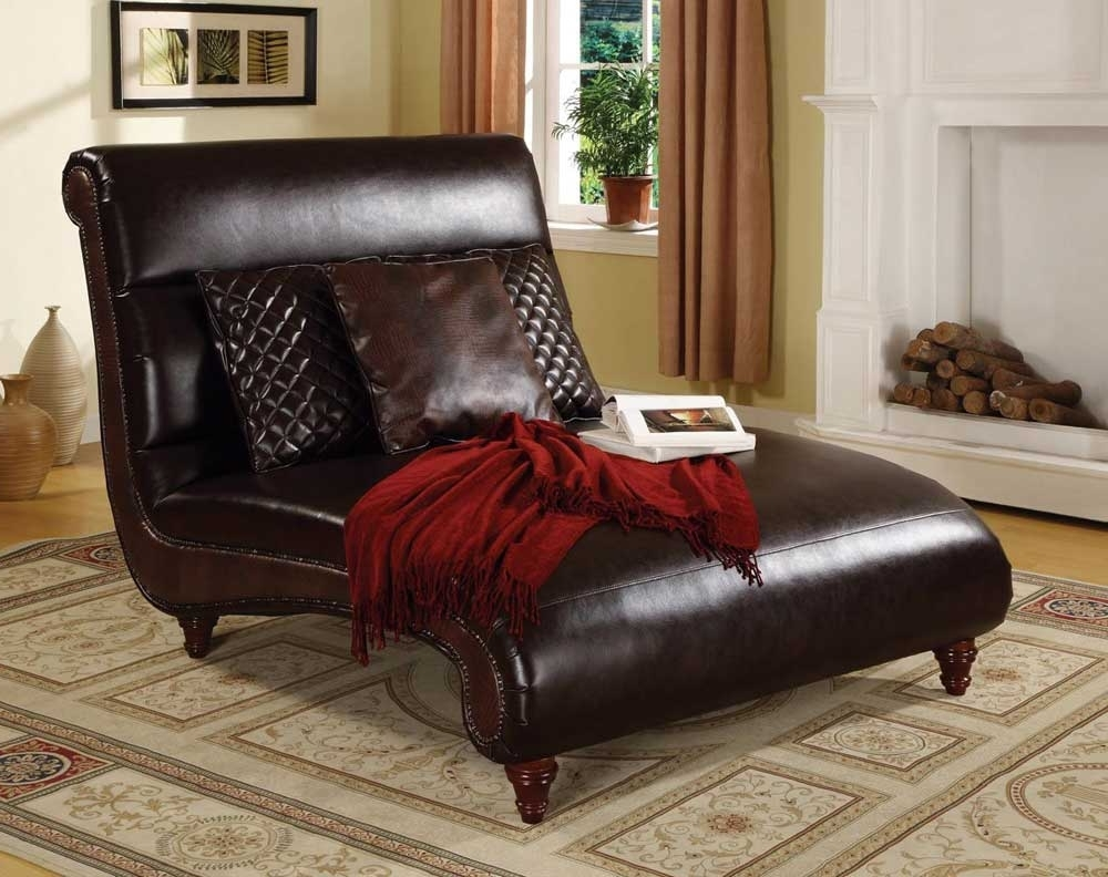 Most Current Leather Chaises Pertaining To Double Modern Leather Chaise — Lustwithalaugh Design : Special (View 10 of 15)