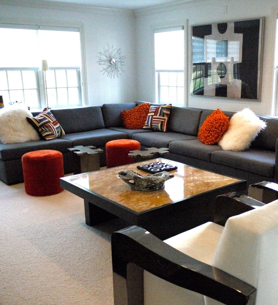 Most Current Living Rooms With Sectional Sofas Pictures Large Pillows For Inside Sectional Sofas Decorating (View 10 of 15)
