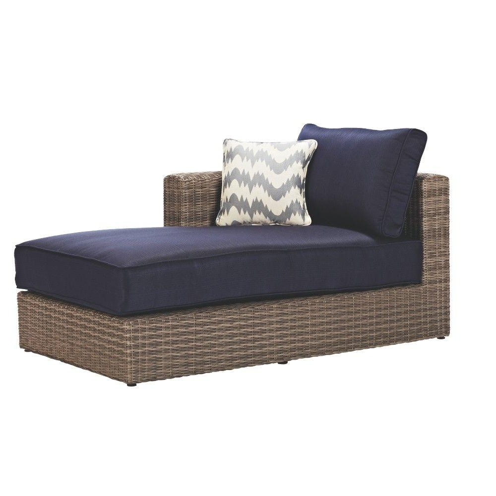 Most Current Long Couches With Chaise In Home Decorators Collection Naples All Weather Grey Wicker Patio (View 12 of 15)