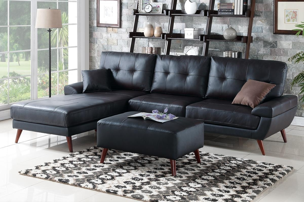 Most Current Los Angeles Sectional Sofas With Regard To Black Leather Sectional Sofa – Steal A Sofa Furniture Outlet Los (View 11 of 15)