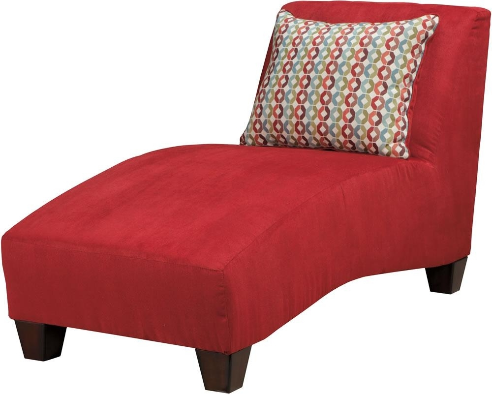 Most Current Lovely Red Chaise Lounge With Grey Fabric Dining Chairs 5 Ashley For Ashley Chaise Lounges (View 9 of 15)