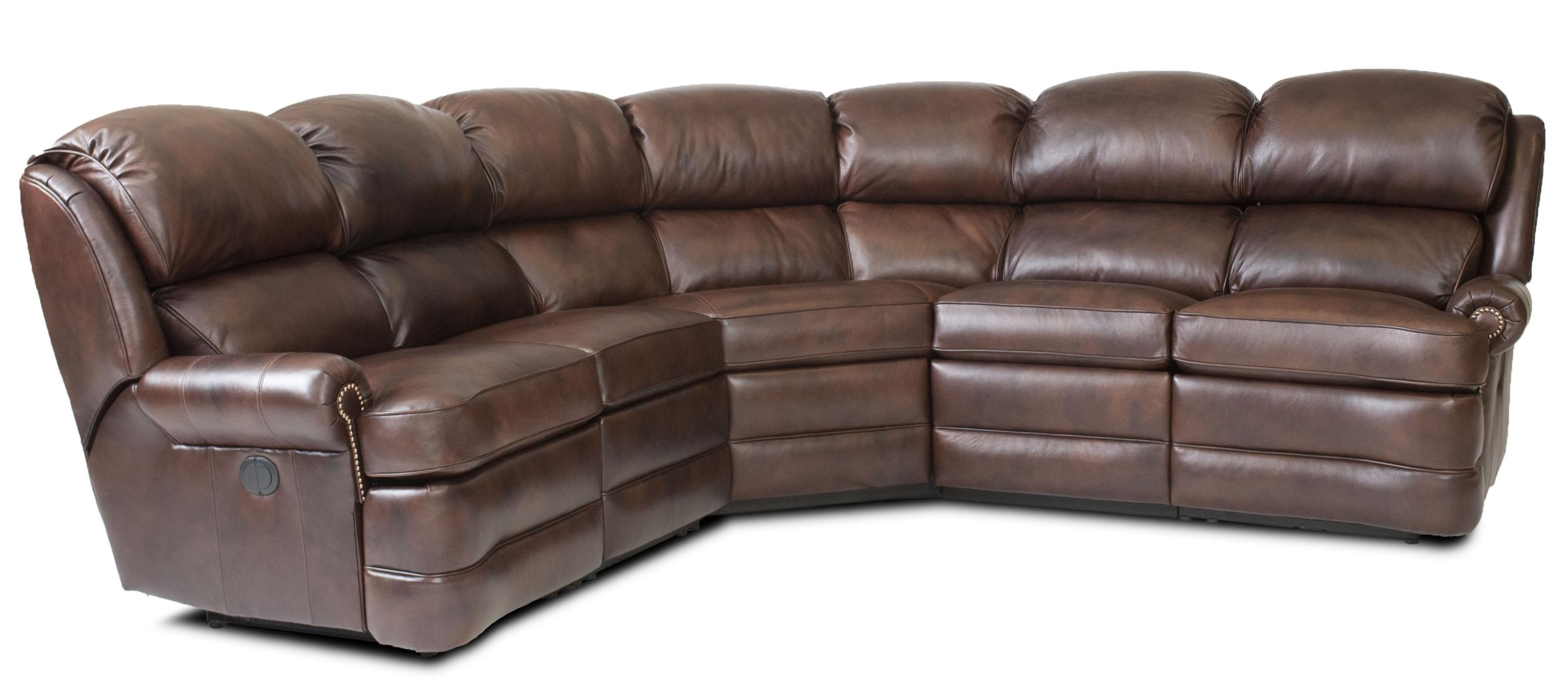Most Current Overstuffed Sofas And Chairs Inside Transitional 5 Piece Reclining Sectional Sofa With Small Rolled (View 13 of 15)