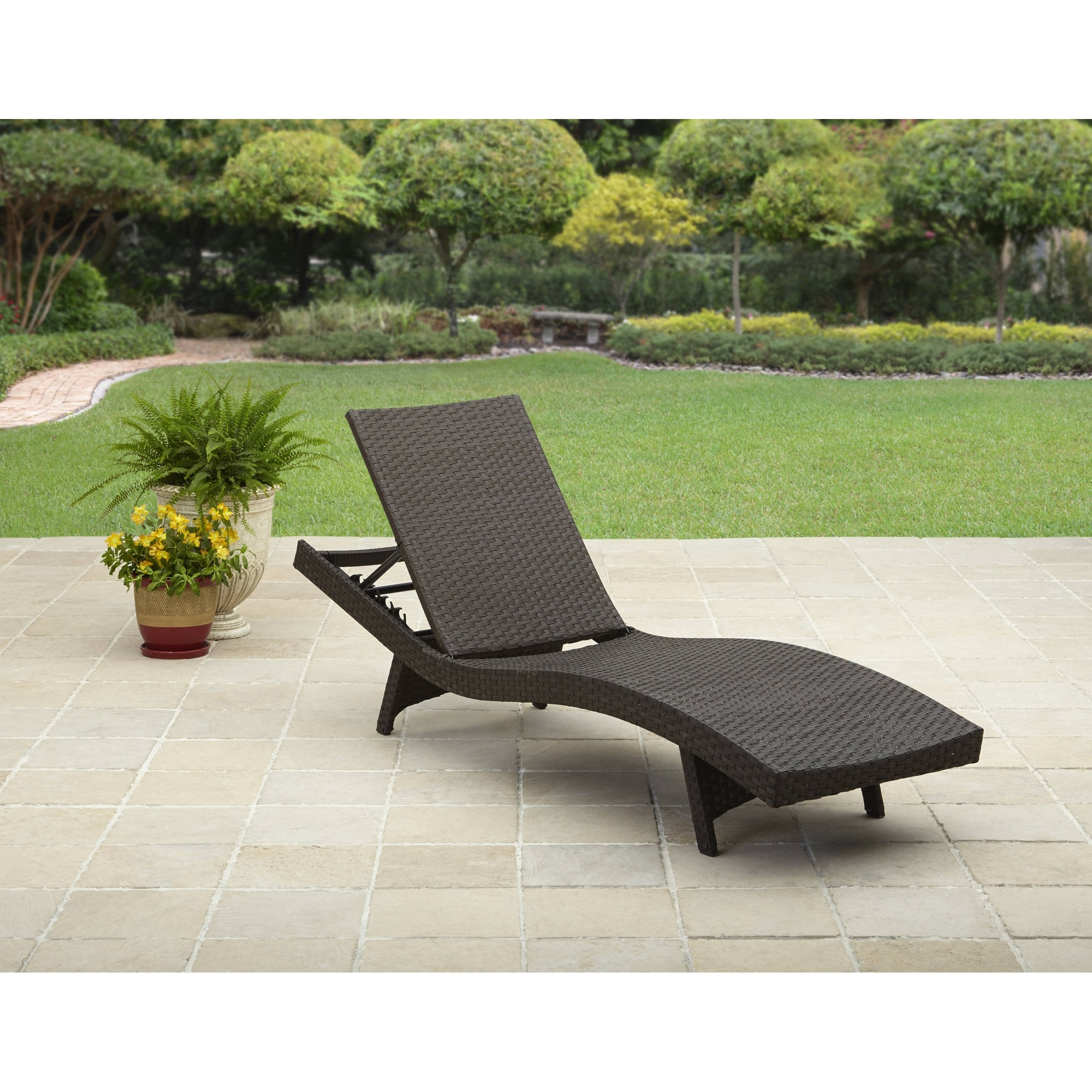 Most Current Portable Outdoor Chaise Lounge Chairs Inside Better Homes And Gardens Avila Beach Chaise – Walmart (View 4 of 15)