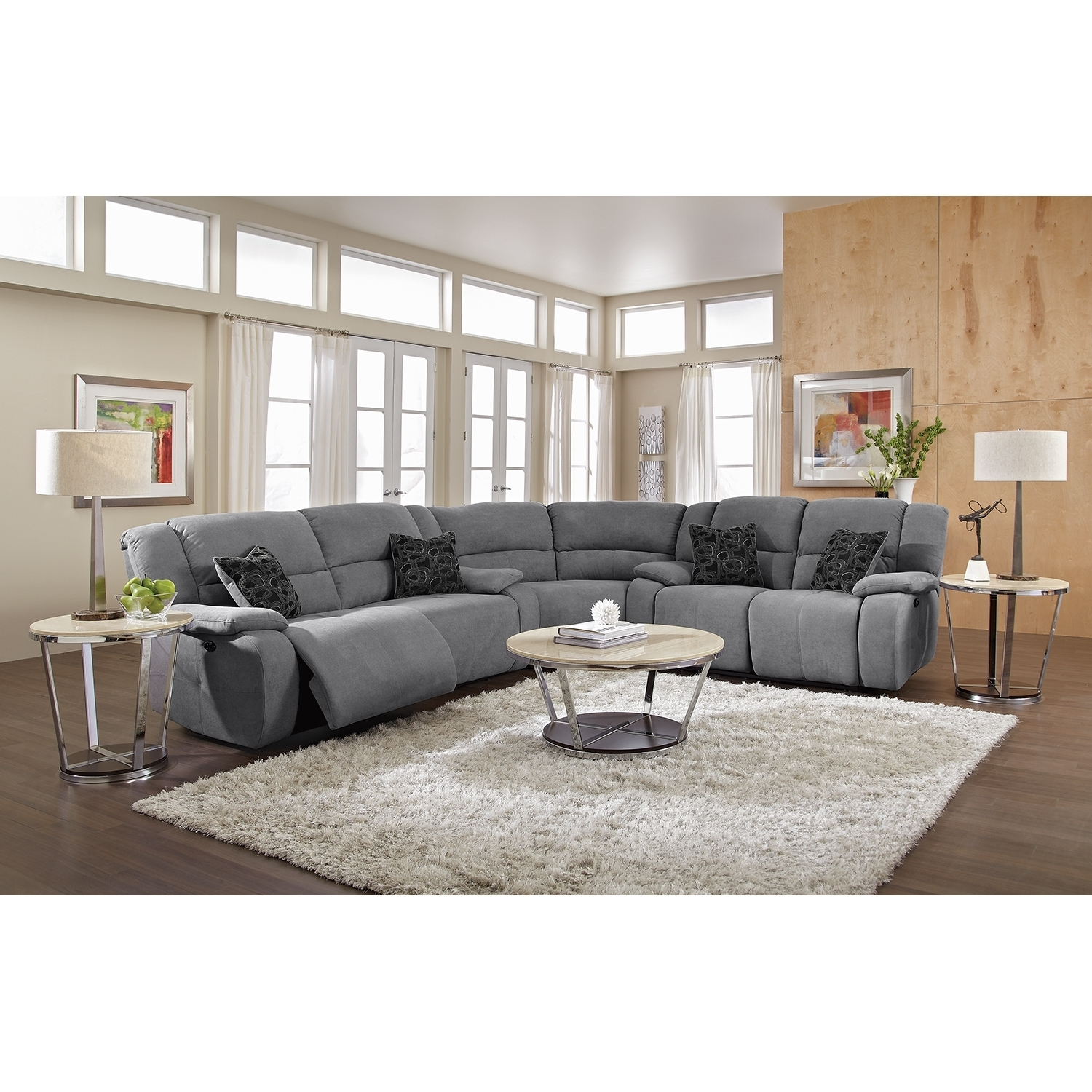 Most Current Reclining Sectional Leather Sectional Grey Sectional Sectionals Within Reclining Sectionals With Chaise (View 3 of 15)