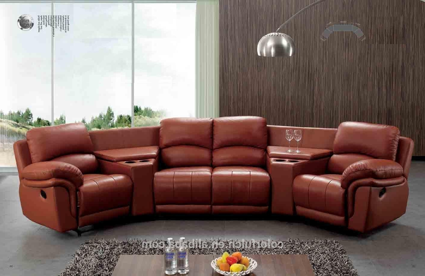 Most Current Sectional Sofa Design: Semi Circular Sectional Sofa Couches Round Regarding Curved Sectional Sofas With Recliner (View 12 of 15)