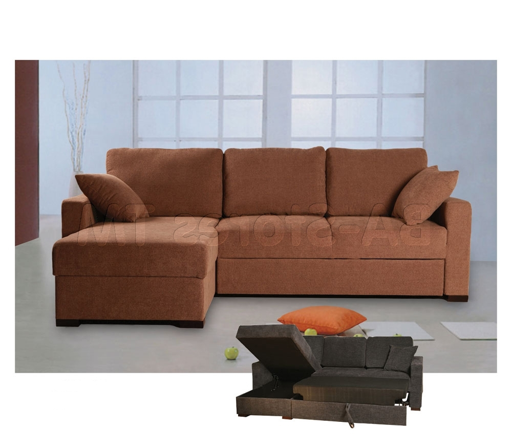 Most Current Sectional Sofas With Storage Regarding Incognito Sectional Sofa Bed (View 6 of 15)