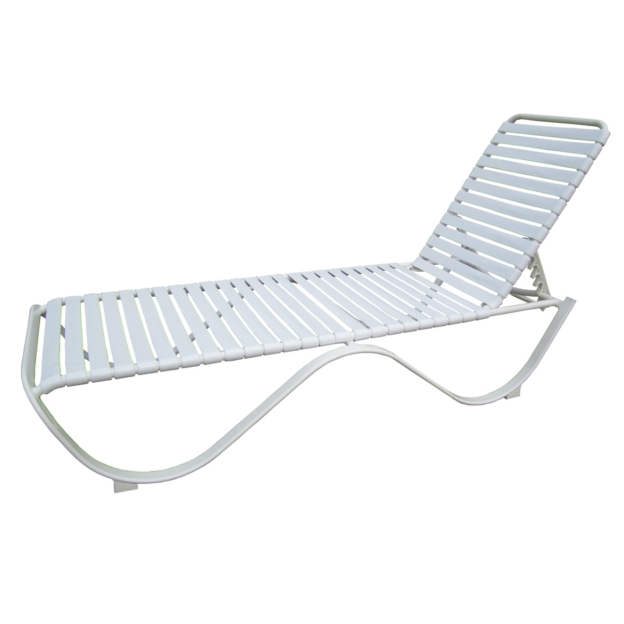 Most Current Shop Garden Treasures Pagosa Springs White Aluminum Stackable In Lowes Outdoor Chaise Lounges (View 7 of 15)
