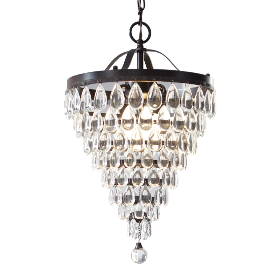 Most Current Shop Style Selections 3 Light Antique Bronze Crystal Chandelier At For 3 Light Crystal Chandeliers (View 3 of 15)