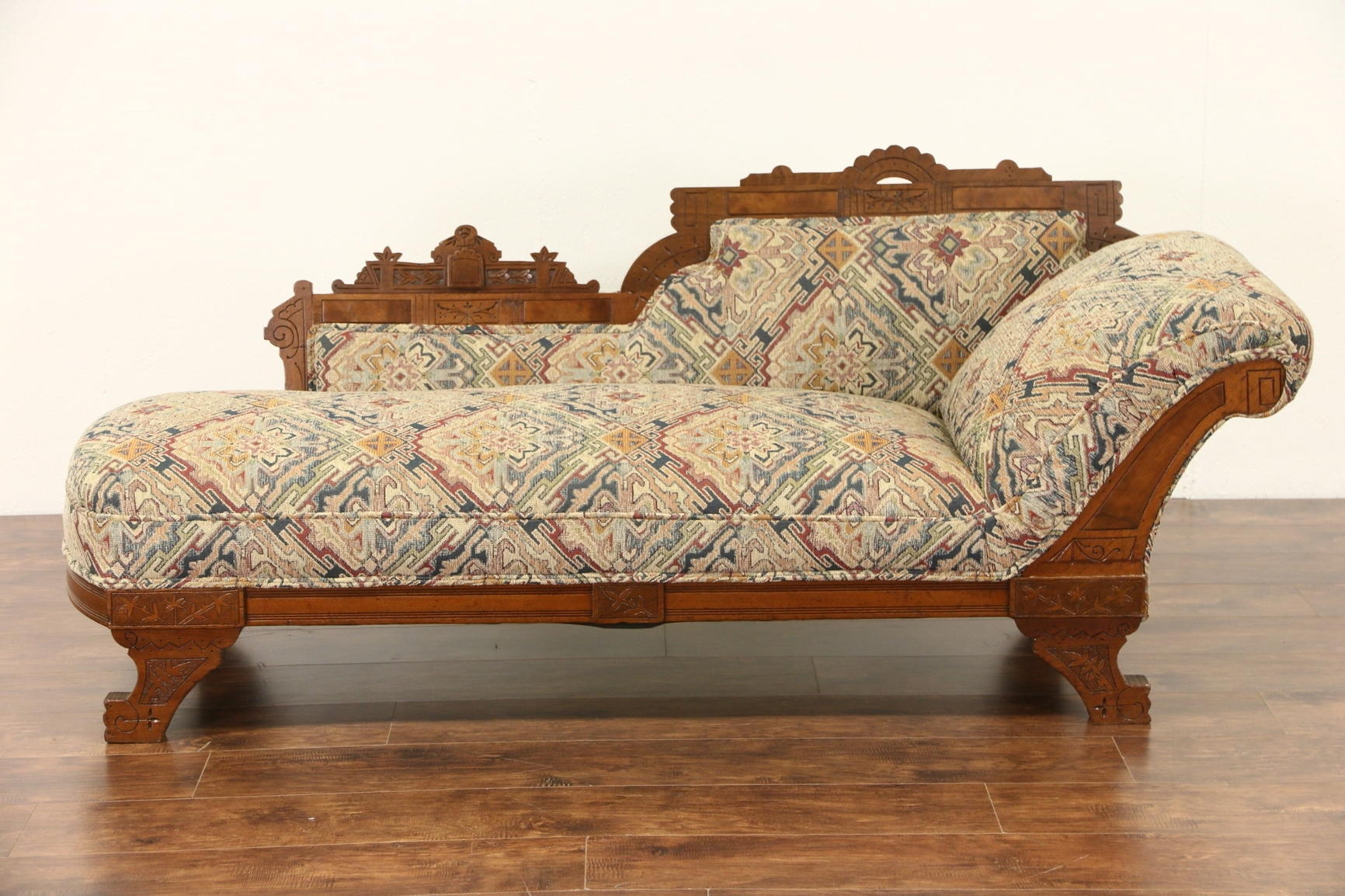 Most Current Sold – Victorian Eastlake 1880 Antique Chaise Lounge Or Fainting Within Antique Chaise Lounges (View 9 of 15)