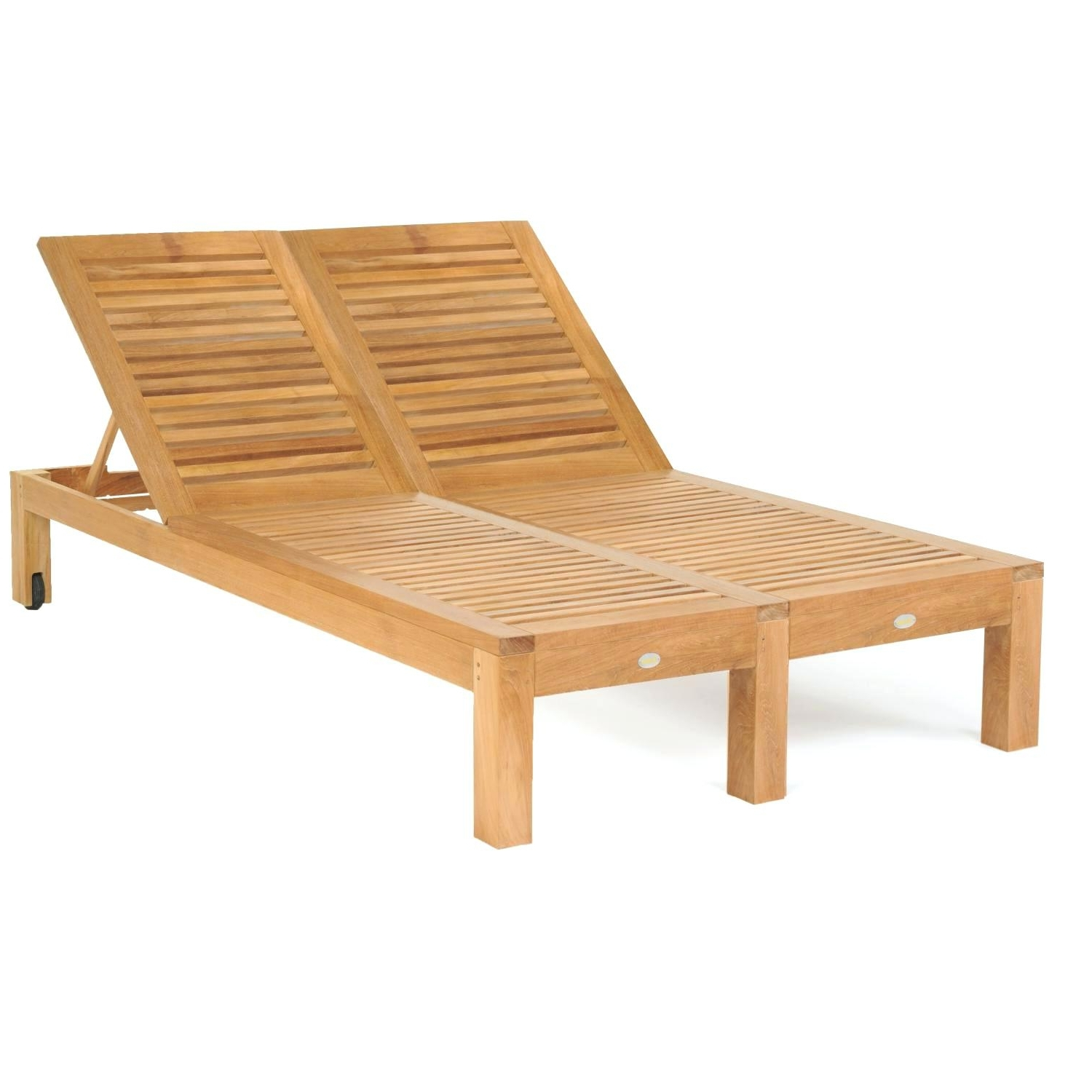 Most Current Teak Chaise Lounge Chairs In Teak Double Chaise Lounge Chairs • Lounge Chairs Ideas (View 4 of 15)