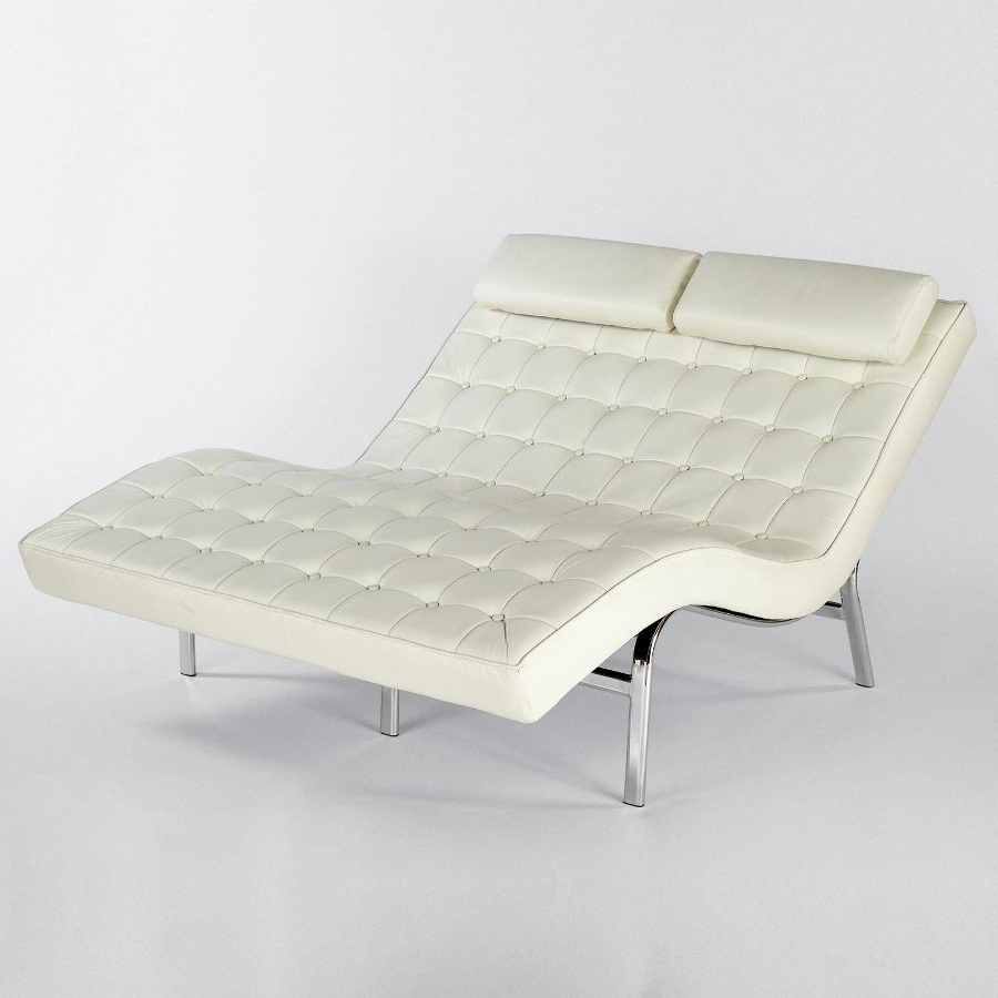 Most Current To Upholstery Double Chaise Lounge — Stereomiami Architechture With Regard To Double Chaise Lounges (View 11 of 15)