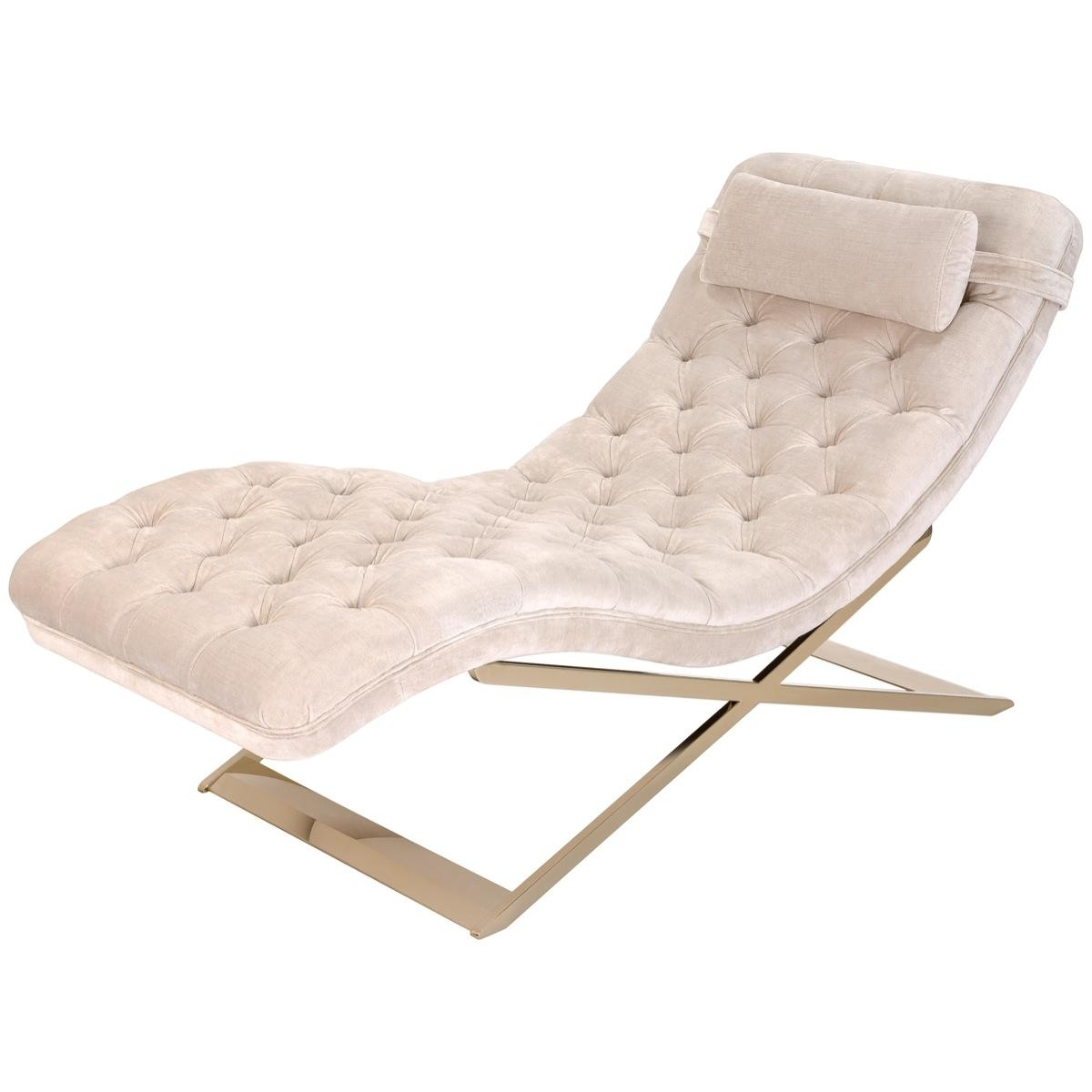 Most Current Upholstered Chaise Lounge Chairs Intended For Nampa Upholstered Chaise Lounge Chair – Safavieh Couture (View 4 of 15)