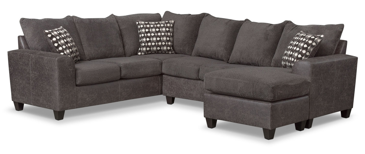 Most Current Value City Sectional Sofas With The Brando Sectional Collection – Smoke (View 5 of 15)