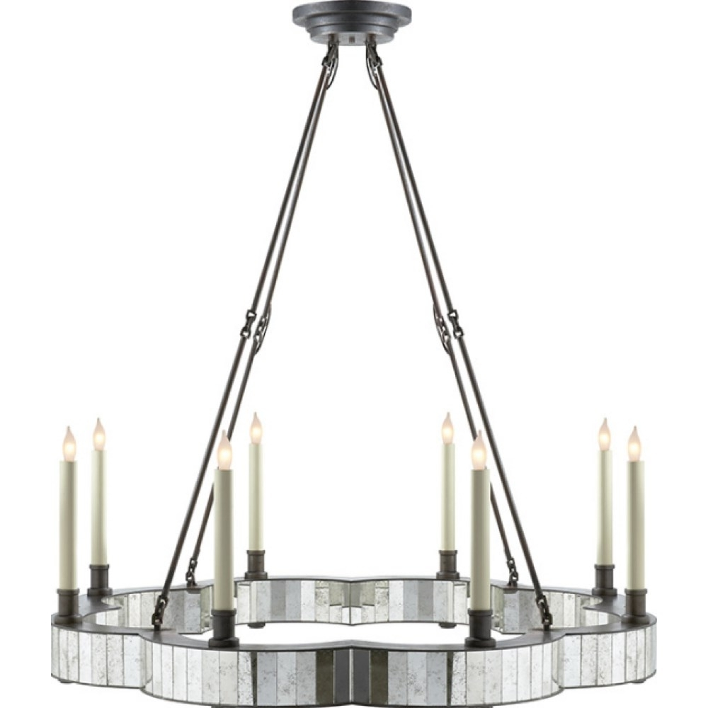 Most Current Visual Comfort Se5020Ai Studio Claridge 8 Light Round Chandelier In With Regard To Antique Mirror Chandelier (View 12 of 15)