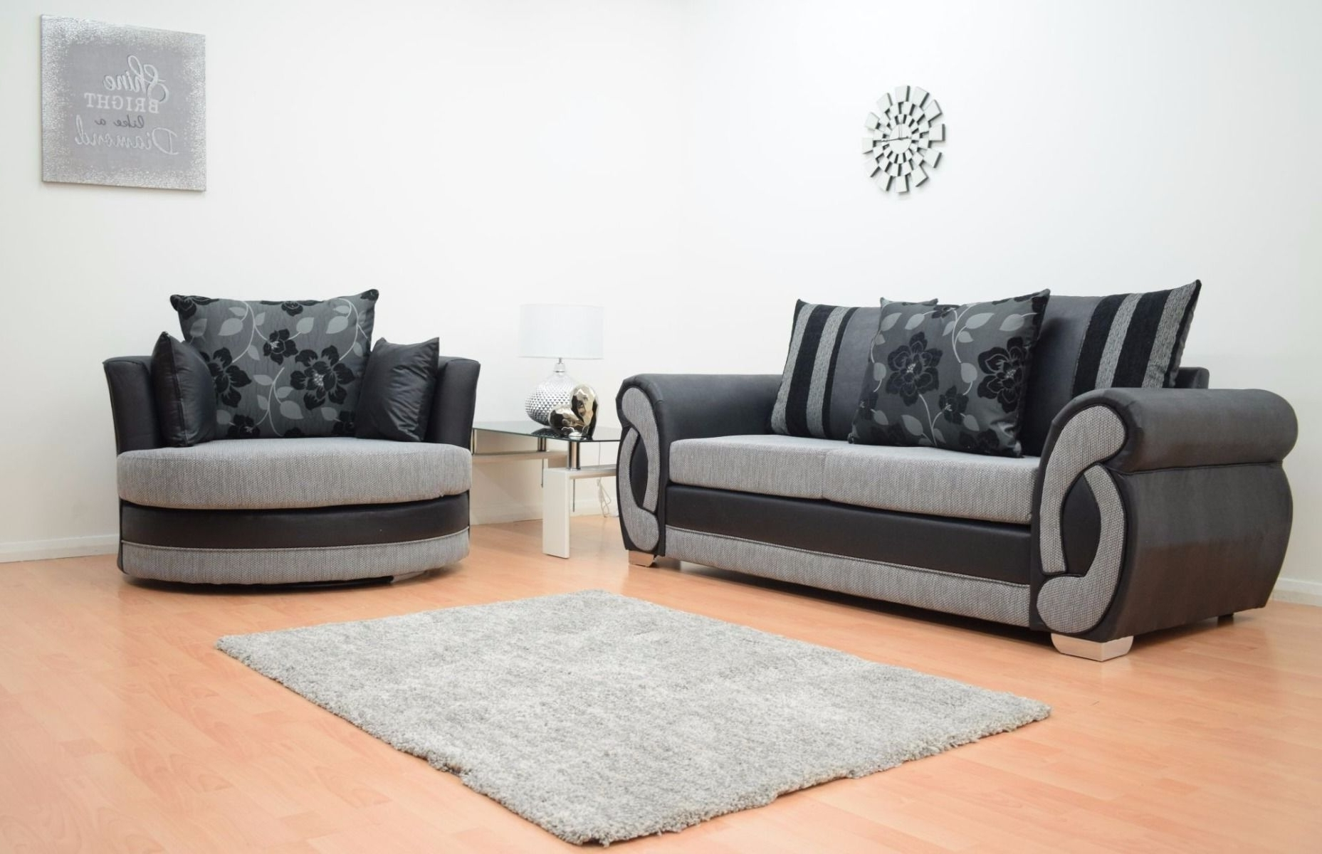 Most Popular 3 Seater Sofas And Cuddle Chairs Intended For Furnish (View 10 of 15)