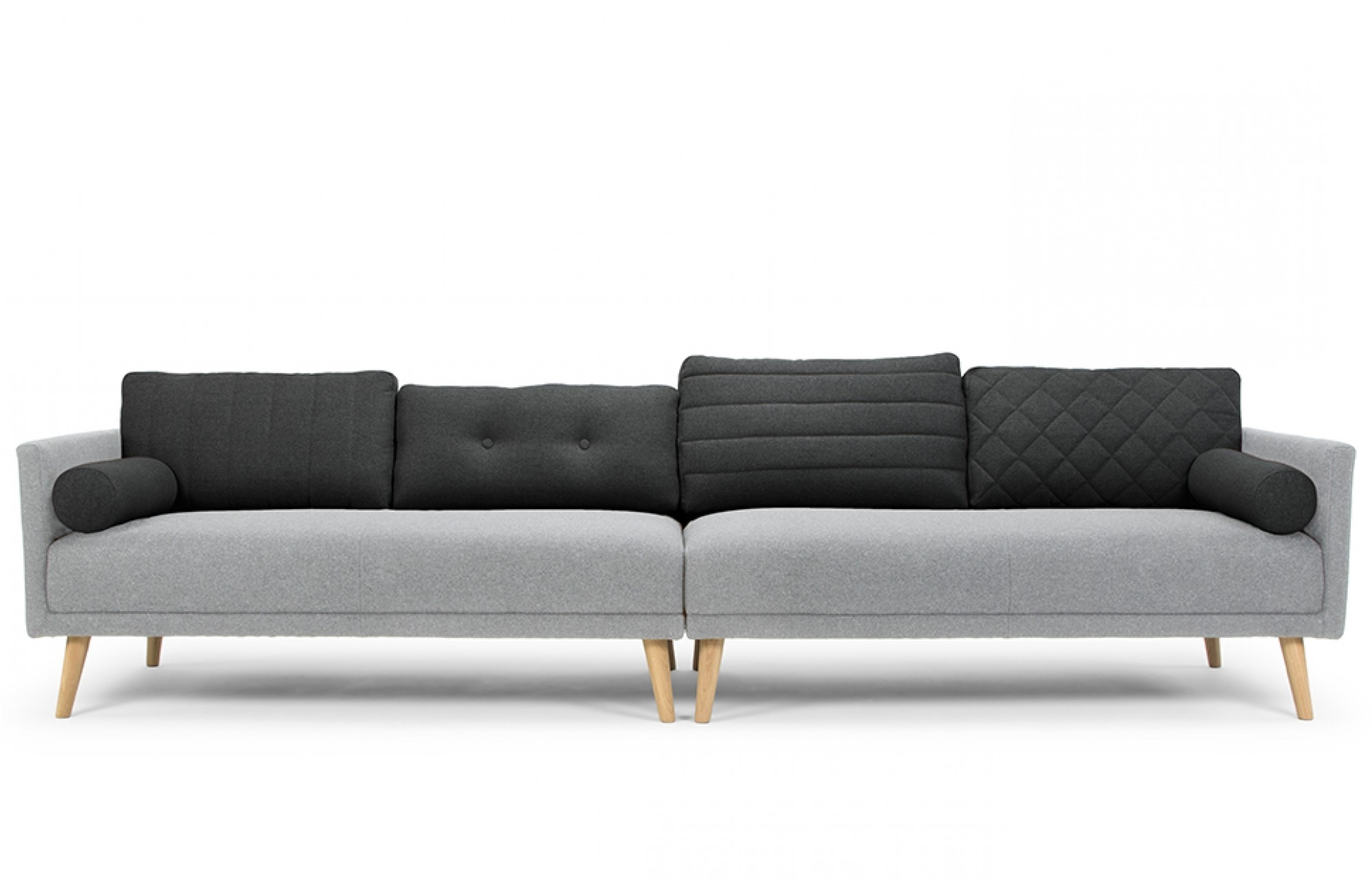 Most Popular 4 Seat Sofas Throughout Grey 4 Seater Sofa – Lounge Furniture – Out & Out Original (View 8 of 15)