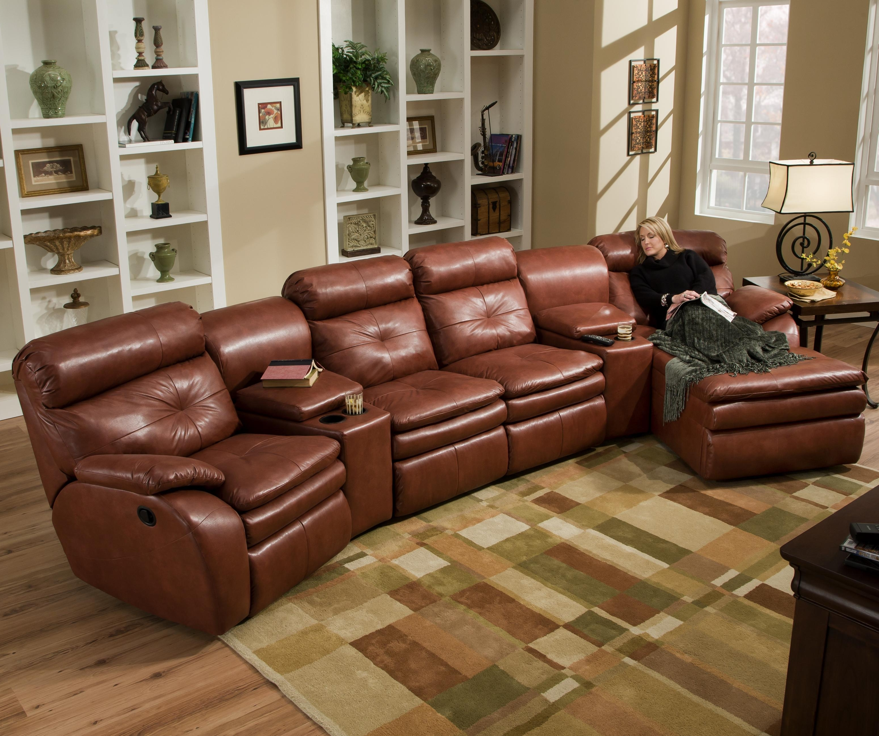 Most Popular Ashley Furniture Sectional Couch Small Sectional Sofa Bed Small Throughout Couches With Chaise And Recliner (View 9 of 15)