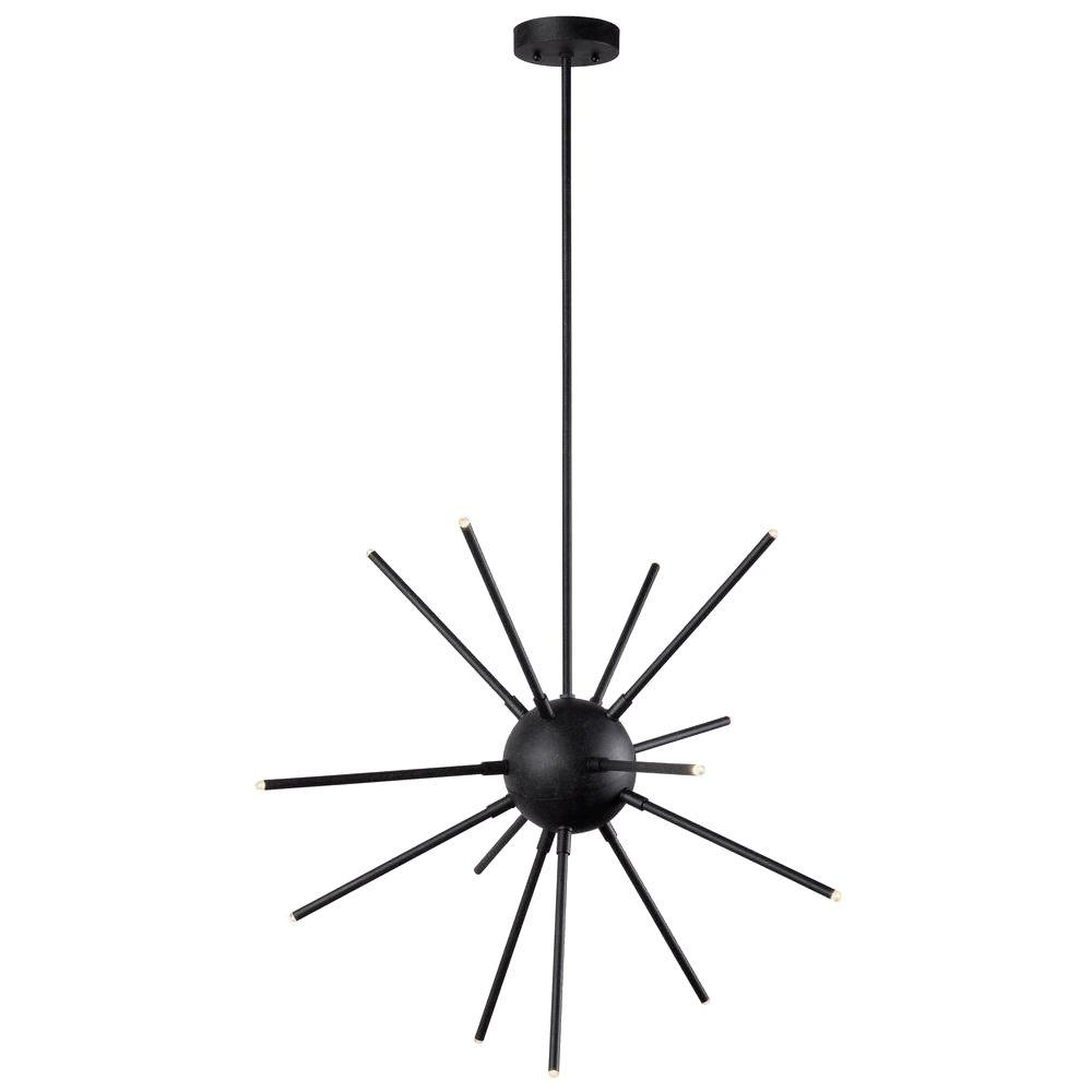 Most Popular Atom Chandeliers In Kenroy Home Atom 13 Light Graphite Led Chandelier 93272Fgrph – The (View 11 of 15)