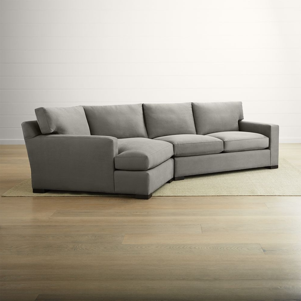 Most Popular Axis Ii 2 Piece Right Arm Angled Chaise Sectional Sofa With Regard To Angled Chaise Sofas (View 11 of 15)