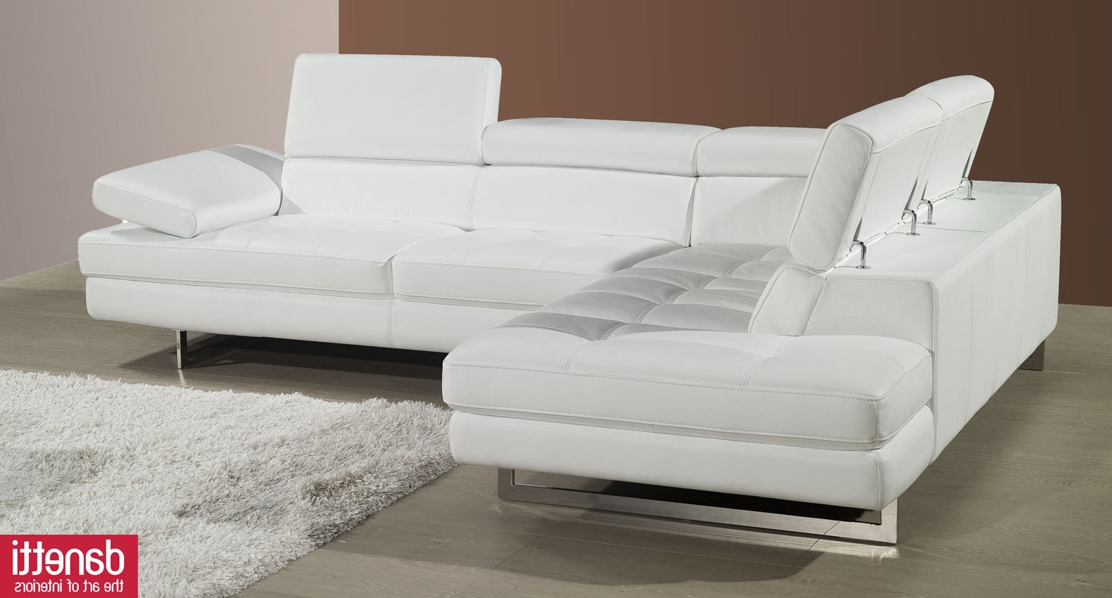Most Popular Beautiful White Leather Modern Sofa 85 On Modern Sofa Inspiration Pertaining To White Modern Sofas (View 6 of 15)