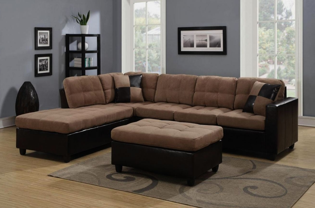 Most Popular Beige Sectional Sofas With Regard To Mallory Beige Leather Sectional Sofa Mallory Beige Leather (View 5 of 15)