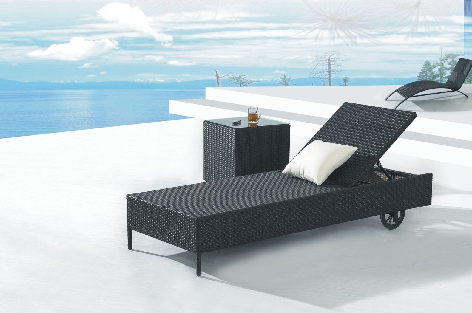 Most Popular Black Chaise Lounge Outdoor Chairs Pertaining To Decorating Pool Chaise Lounge Chairs — Bed And Shower (View 10 of 15)