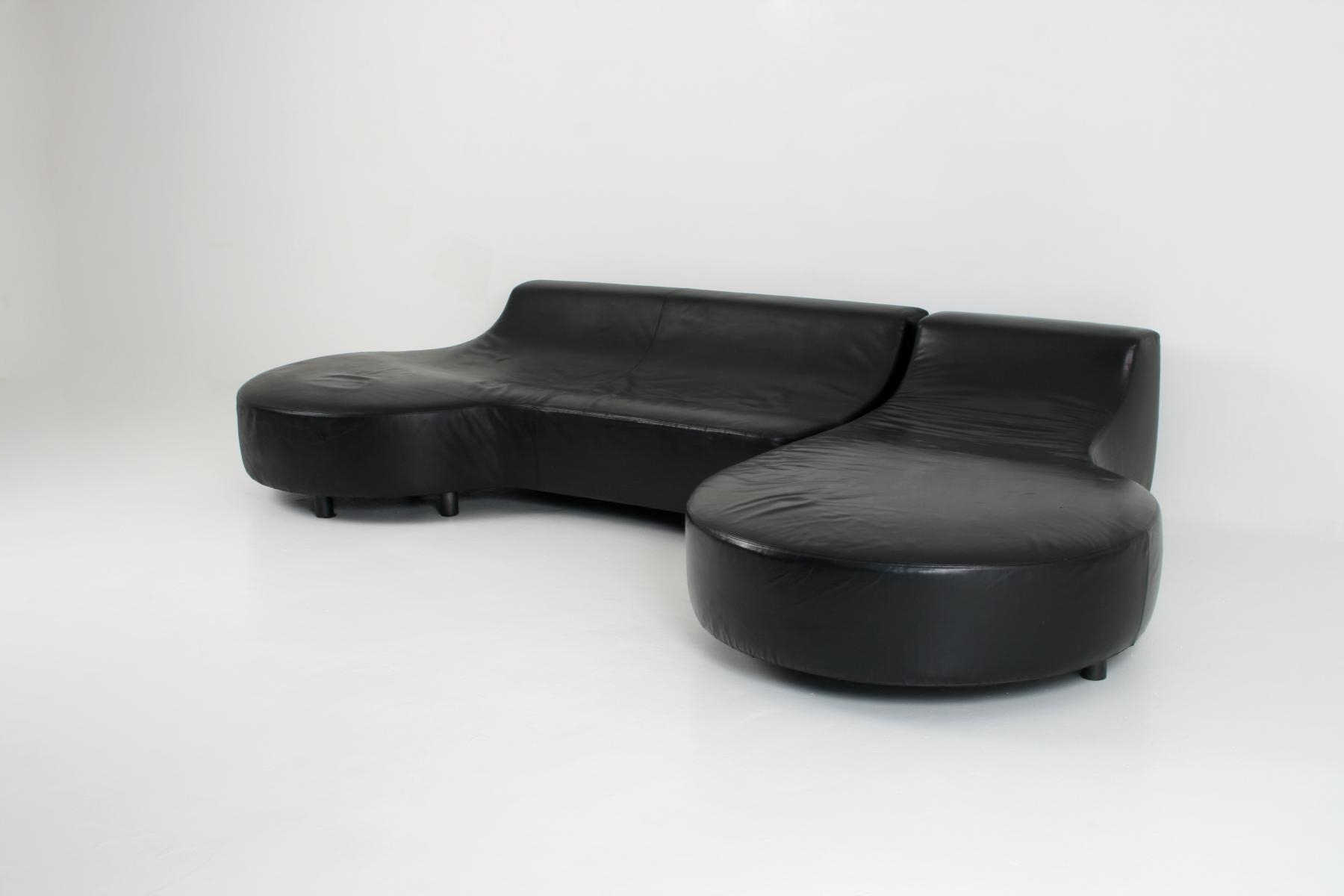 Most Popular Black Leather Chaise Loungerodolfo Dordini For Minotti For Inside Black Leather Chaise Lounges (View 10 of 15)