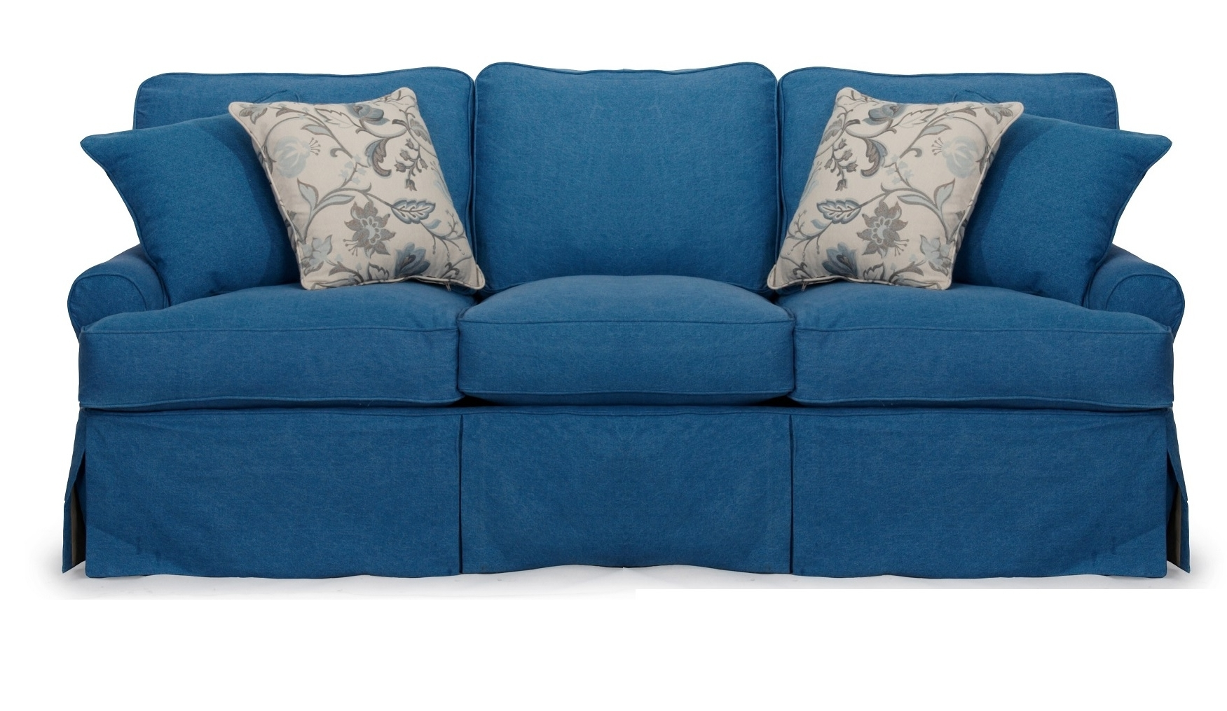 Most Popular Blue Sofa Chairs In Sofa: Best Ashley Furniture Blue Sofa Couch Furniture, Ashley Sofa (View 7 of 15)