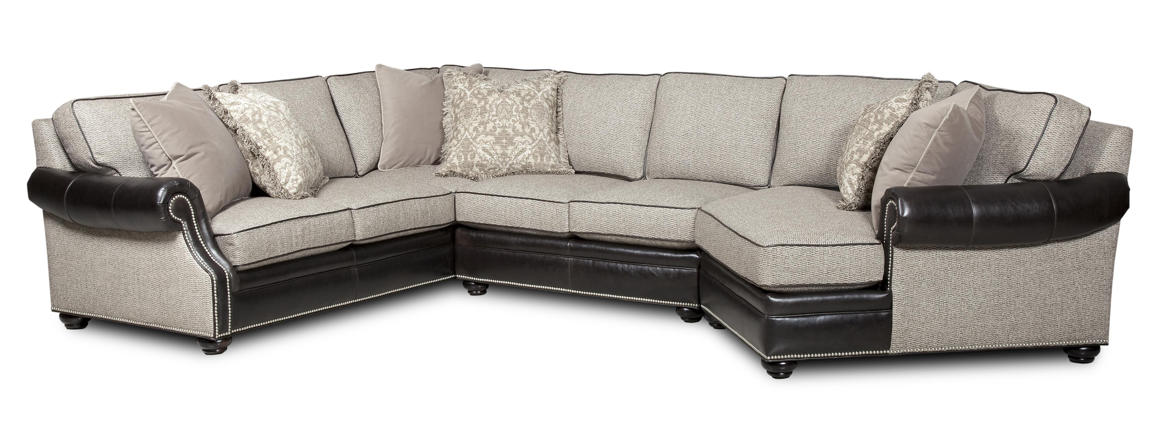 Most Popular Bradington Young Warner Three Piece Sectional Sofa With Laf Regarding Visalia Ca Sectional Sofas (View 8 of 15)