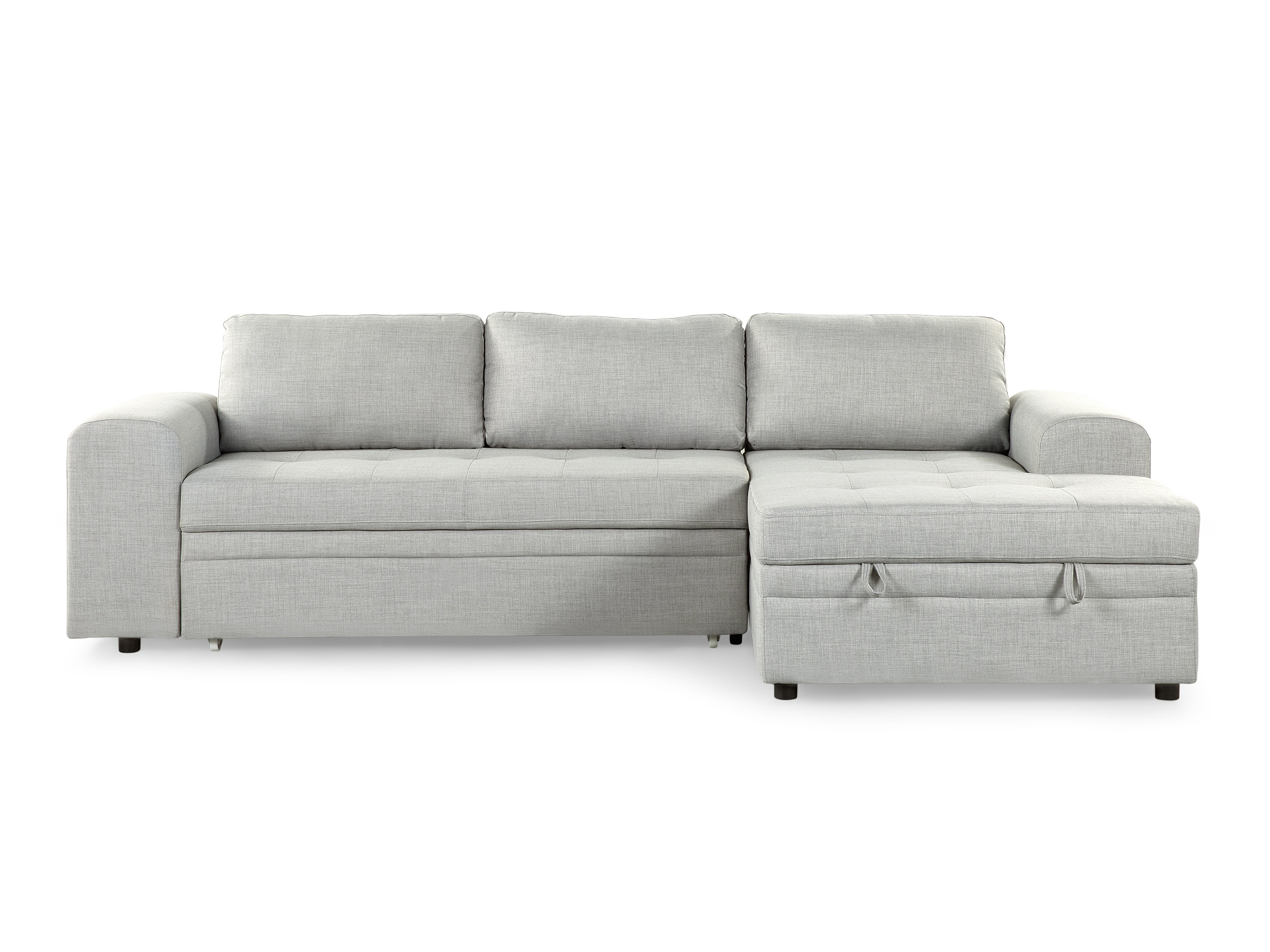 Most Popular Chaise Lounge Sleeper Sofas With Regard To Sectional Sleeper Sofa – Light Gray Kiruna (View 12 of 15)