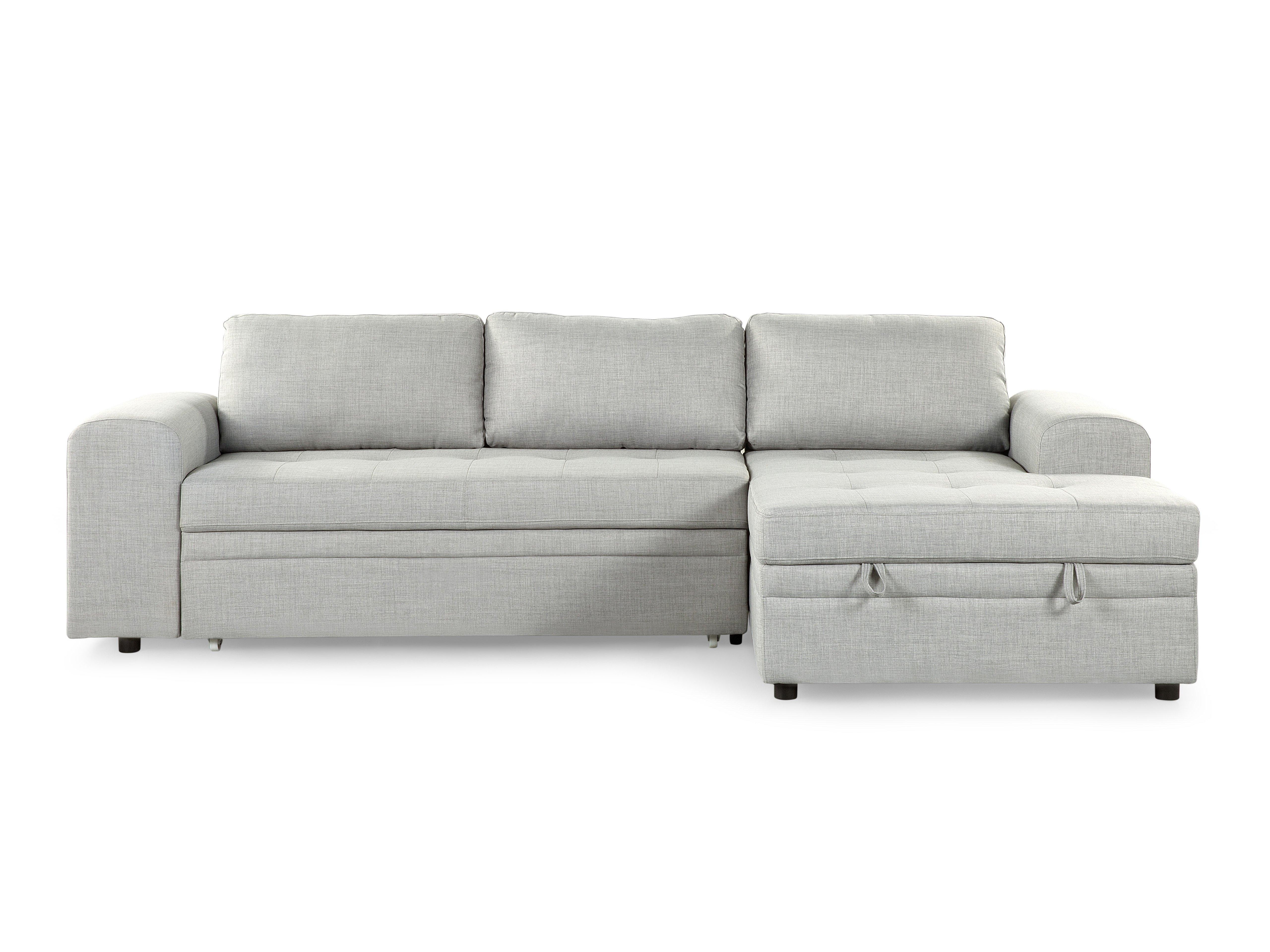 Most Popular Chaise Lounge Sleeper Sofas With Regard To Sectional Sleeper Sofa – Light Gray Kiruna (View 10 of 15)