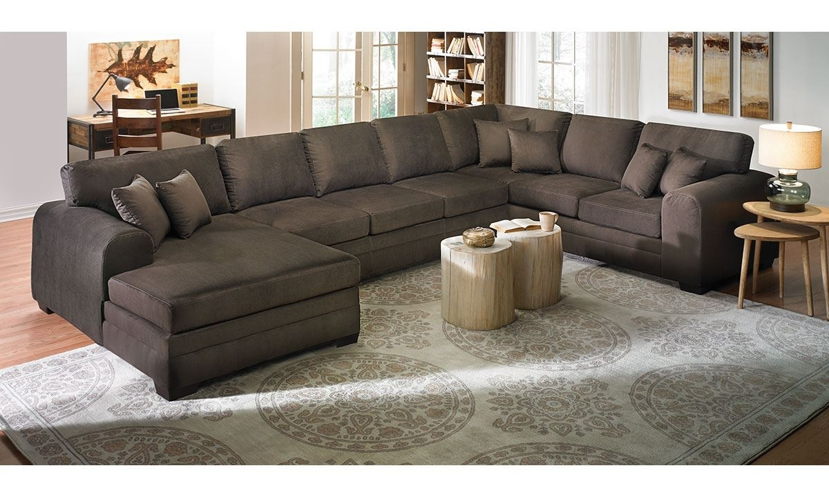 Most Popular Chaise Sectional Sofas With Regard To Cheap Sectional Sofas Movie Pit Couch Oversized Sofas Extra Large (View 3 of 15)